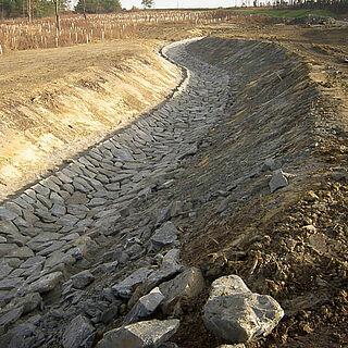 Entwässerung Straße